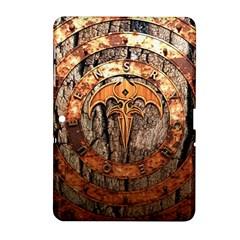 Queensryche Heavy Metal Hard Rock Bands Logo On Wood Samsung Galaxy Tab 2 (10 1 ) P5100 Hardshell Case