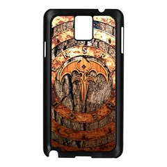 Queensryche Heavy Metal Hard Rock Bands Logo On Wood Samsung Galaxy Note 3 N9005 Case (black) by Samandel