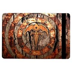 Queensryche Heavy Metal Hard Rock Bands Logo On Wood Ipad Air Flip