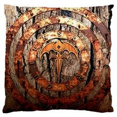 Queensryche Heavy Metal Hard Rock Bands Logo On Wood Large Flano Cushion Case (one Side) by Samandel