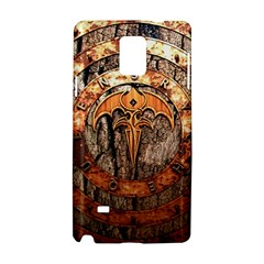 Queensryche Heavy Metal Hard Rock Bands Logo On Wood Samsung Galaxy Note 4 Hardshell Case