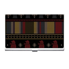 Tardis Doctor Who Ugly Holiday Business Card Holders