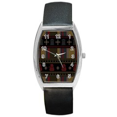 Tardis Doctor Who Ugly Holiday Barrel Style Metal Watch