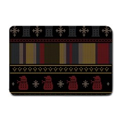 Tardis Doctor Who Ugly Holiday Small Doormat  by Samandel