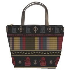 Tardis Doctor Who Ugly Holiday Bucket Bags