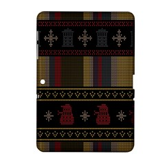 Tardis Doctor Who Ugly Holiday Samsung Galaxy Tab 2 (10 1 ) P5100 Hardshell Case