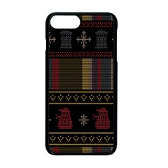 Tardis Doctor Who Ugly Holiday Apple Iphone 7 Plus Seamless Case (black) by Samandel
