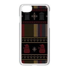 Tardis Doctor Who Ugly Holiday Apple Iphone 8 Seamless Case (white) by Samandel