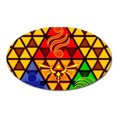 The Triforce Stained Glass Oval Magnet