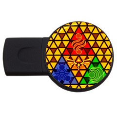 The Triforce Stained Glass Usb Flash Drive Round (2 Gb)