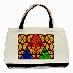 The Triforce Stained Glass Basic Tote Bag