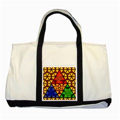 The Triforce Stained Glass Two Tone Tote Bag