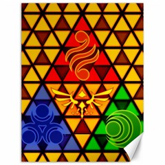 The Triforce Stained Glass Canvas 12  X 16
