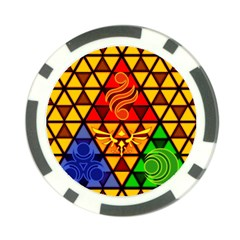 The Triforce Stained Glass Poker Chip Card Guard