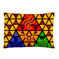 The Triforce Stained Glass Pillow Case