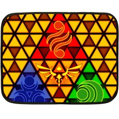 The Triforce Stained Glass Fleece Blanket (mini)