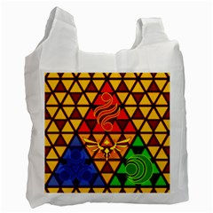 The Triforce Stained Glass Recycle Bag (two Side)