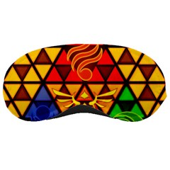 The Triforce Stained Glass Sleeping Masks