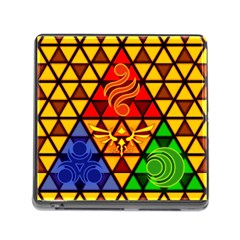 The Triforce Stained Glass Memory Card Reader (square)