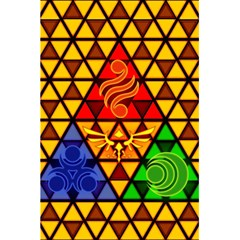 The Triforce Stained Glass 5 5  X 8 5  Notebooks