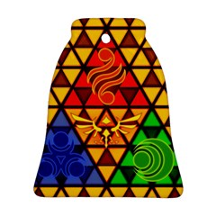 The Triforce Stained Glass Ornament (bell)