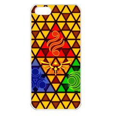 The Triforce Stained Glass Apple Iphone 5 Seamless Case (white)