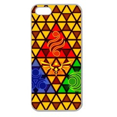 The Triforce Stained Glass Apple Seamless Iphone 5 Case (clear)