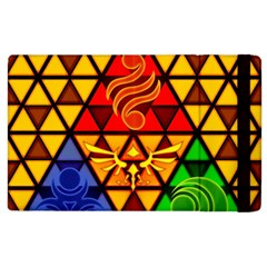 The Triforce Stained Glass Apple Ipad 2 Flip Case