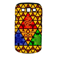 The Triforce Stained Glass Samsung Galaxy S Iii Classic Hardshell Case (pc+silicone)