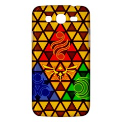 The Triforce Stained Glass Samsung Galaxy Mega 5 8 I9152 Hardshell Case
