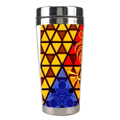 The Triforce Stained Glass Stainless Steel Travel Tumblers