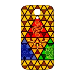 The Triforce Stained Glass Samsung Galaxy S4 I9500/i9505  Hardshell Back Case