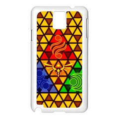 The Triforce Stained Glass Samsung Galaxy Note 3 N9005 Case (white)