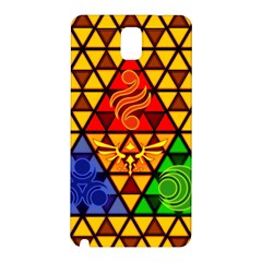 The Triforce Stained Glass Samsung Galaxy Note 3 N9005 Hardshell Back Case