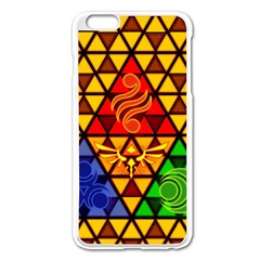 The Triforce Stained Glass Apple Iphone 6 Plus/6s Plus Enamel White Case