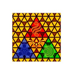 The Triforce Stained Glass Satin Bandana Scarf