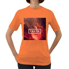 Trxye Galaxy Nebula Women s Dark T Shirt