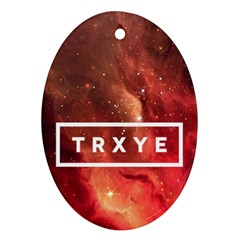 Trxye Galaxy Nebula Oval Ornament (two Sides)