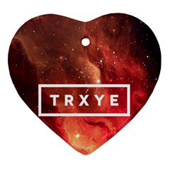 Trxye Galaxy Nebula Heart Ornament (two Sides)
