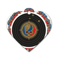 The Grateful Dead Dog Tag Heart (two Sides)