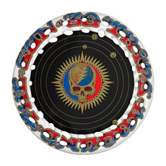 The Grateful Dead Round Filigree Ornament (two Sides)