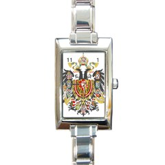 Imperial Coat Of Arms Of Austria Hungary  Rectangle Italian Charm Watch
