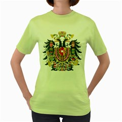 Imperial Coat Of Arms Of Austria Hungary  Women s Green T Shirt
