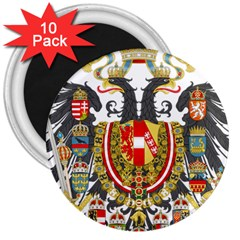 Imperial Coat Of Arms Of Austria Hungary  3  Magnets (10 Pack)