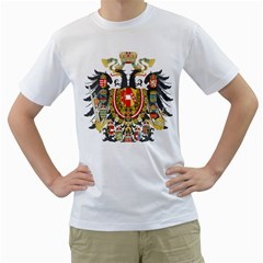 Imperial Coat Of Arms Of Austria Hungary  Men s T Shirt (white) (two Sided)