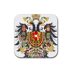 Imperial Coat Of Arms Of Austria Hungary  Rubber Coaster (square)