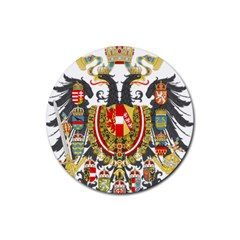 Imperial Coat Of Arms Of Austria Hungary  Rubber Round Coaster (4 Pack)