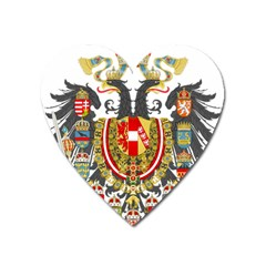 Imperial Coat Of Arms Of Austria Hungary  Heart Magnet