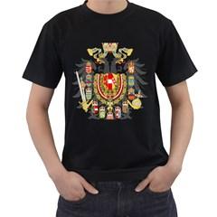 Imperial Coat Of Arms Of Austria Hungary  Men s T Shirt (black) (two Sided)