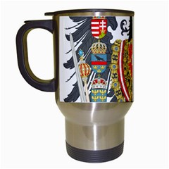 Imperial Coat Of Arms Of Austria Hungary  Travel Mugs (white)